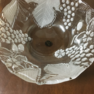 ガラス鉢  葡萄柄