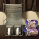 キッチン周辺備品棚+砂糖.塩ケース+プラケース
