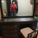 鏡台 大きいので机としても使用できます