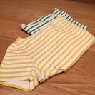 ユニクロ ストライプ 半袖Tシャツ