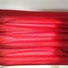 遮光カーテン2枚 赤 150×178