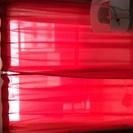 普通のカーテン4枚 178×100赤