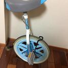一輪車子供用(タイヤ止め、取説付き)