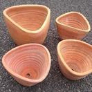 テラコッタ植木鉢四個セット♪