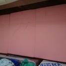 シングル 布団マットレス 3つ折り ピンク