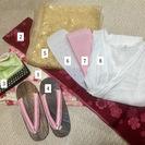 可愛いピンク桜柄の浴衣8点セット