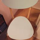 値引き 中古 IKEA 水色椅子