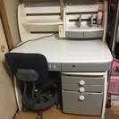 学習机❤️【グレー】回転式椅子つき