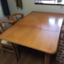 【ダイニングテーブル セット】伸縮可能80〜120