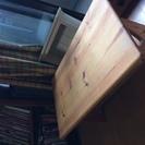 パイン材1枚板ローテーブル