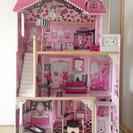 木製ドールハウスセット(3階建)家具付き キッドクラフト KID ...