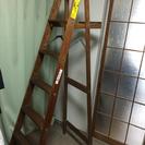 木製おしゃれハシゴ(五段)