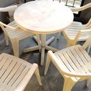 (取引交渉中)★プラスチックテーブル&イス セット