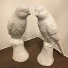 陶器の鳥の置物