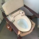 介護ポータブルトイレ (温水洗浄機能付)
