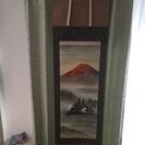 岳村 赤富士 掛け軸