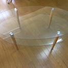 2段式ガラステーブル