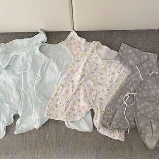 ベビー新生児肌着セット☆厚手4枚セット50-60センチ