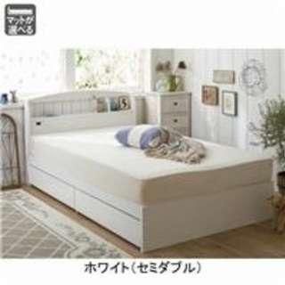 【送料無料】収納・マットレス付きシングルベッド