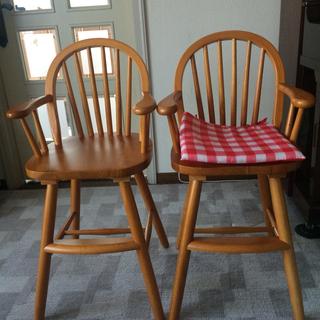 子供用椅子 ライトブラウン