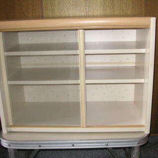 収納  2段食器棚   中古品