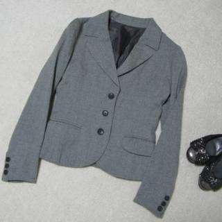 【新品】カールパークレーン*上質ウールジャケット小さいサイズ5号グレー