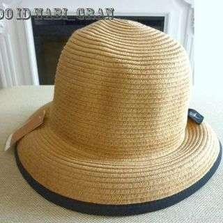 【美品】 シビラSybilla かわいいリボン帽子 サイズ調整可