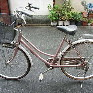 無料配達地域あり、26インチ、ピンクのママチャリ中古自転車を自転車...