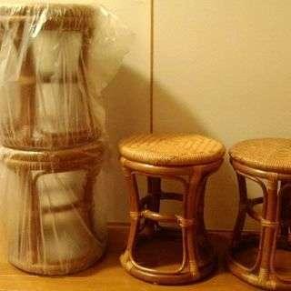 お取引中 籐の椅子 スツール(4脚セット)美品です!