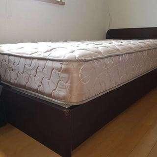 引き出し付き シングルベッド