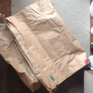 used)社名などの入った30㍑の米の紙袋