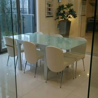 ガラステーブル&椅子セット