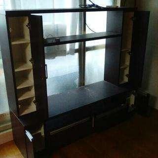 テレビ台と本棚