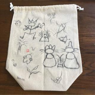 値下げしました!手作り 筆文字巾着袋