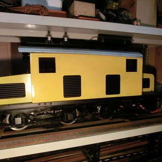 全て手作りです、模型の電気機関車