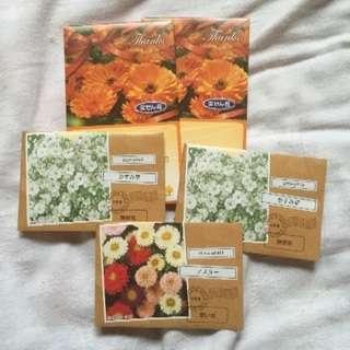 花の種5袋200円!
