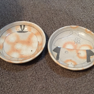 可愛い夫婦皿