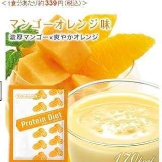 DHC プロテインダイエット マンゴー・オレンジ味14袋(おまけ付き