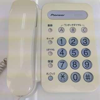 パイオニアの電話機「TF-12-W」