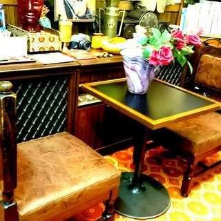 昭和レトロ 純喫茶で使われていたアンティークテーブルセット
