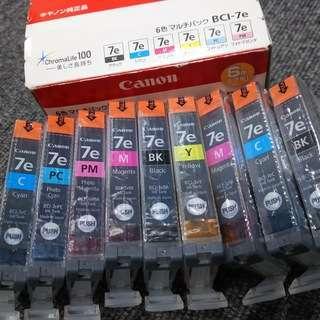 キャノン純正インク 6色マルチパック+3本 個装未開封・未使用