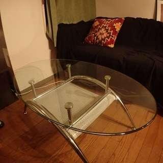 [値下げました!]ガラスのオシャレセンターテーブル