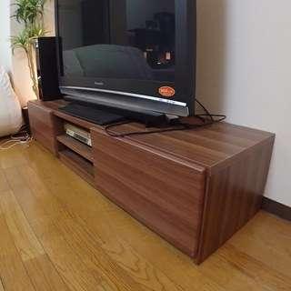 大型テレビ用木目テレビボード