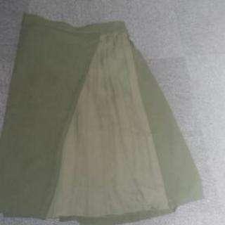 新品3Lスカート(カーキ)