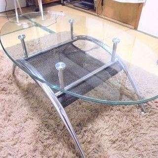 再 【引取取引希望】 美品 ソファとガラステーブルセット