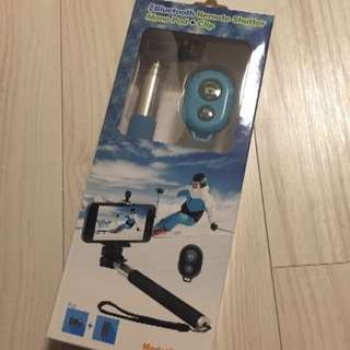 【新品】自撮り棒 Bluetoothリモコン付き