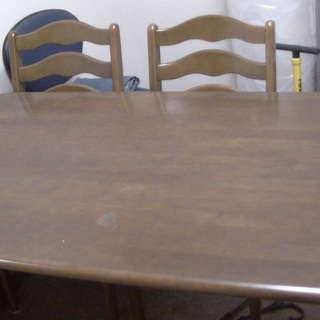 木製ダイニングテーブル4点セット