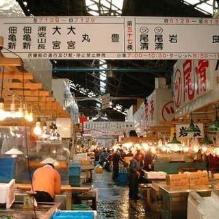 【大量採用 夜勤】  築地市場内での魚ピッキング作業(魚の詰め合わせ) - 軽作業