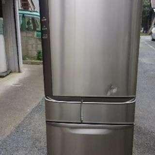 ナショナル 送料込み 455L ノンフロン冷凍冷蔵庫 シルバー 大...