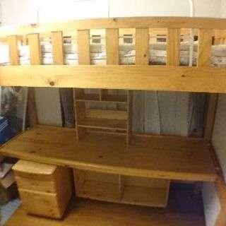 【急募】ニトリの木製ロフトベッド